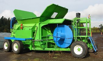 CT10 compost bagger, 10ft diameter bags