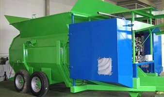 CT8 compost bagger, 8ft diameter bags
