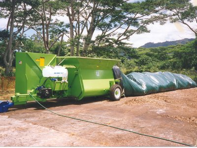 CT5 compost bagger, 5ft diameter bags